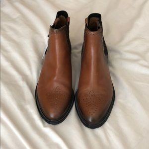 ZARA Chelsea Wingtip Boots